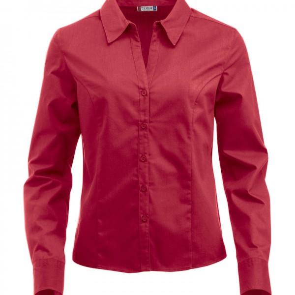 Chemise-Femme-manches-longues-Idéal-PRO-rouge