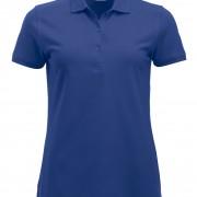Polo-Femme-Classique-manches-courtes-bleu