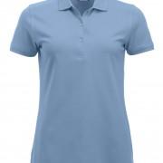 Polo-Femme-Classique-manches-courtes-bleu-clair