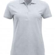 Polo-Femme-Classique-manches-courtes-cendre