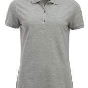 Polo-Femme-Classique-manches-courtes-gris-clair