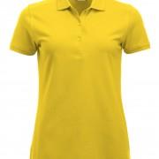 Polo-Femme-Classique-manches-courtes-jaune