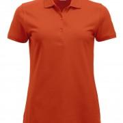 Polo-Femme-Classique-manches-courtes-orange