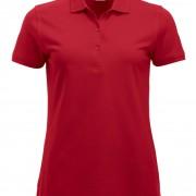 Polo-Femme-Classique-manches-courtes-rouge