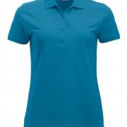 Polo-Femme-Classique-manches-courtes-turquoise