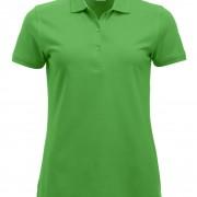 Polo-Femme-Classique-manches-courtes-vert-prairie
