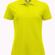 Polo-Femme-Polycoton-jaune-HV