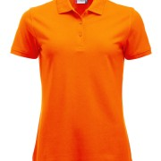 Polo-Femme-Polycoton-orange-HV