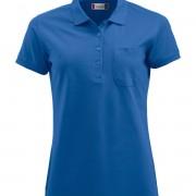 Polo-Femme-avec-Poche-bleu