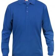 Polo-Homme-Classique-manches-longues-bleu
