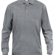 Polo-Homme-Classique-manches-longues-gris-clair