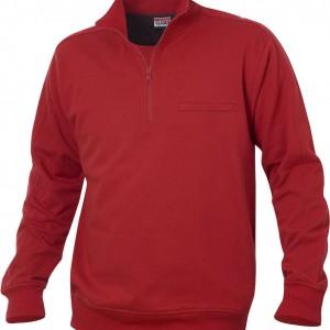 Sweatshirt unisexe à poche col zip
