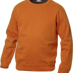 Sweatshirt unisexe col rond contrasté