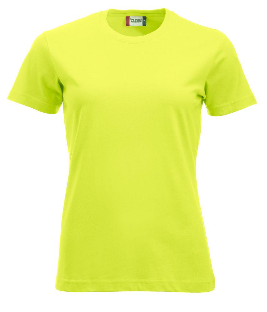 0740d812de3e Tee-Shirt-Femme-classique-vert-fluo - Adisson