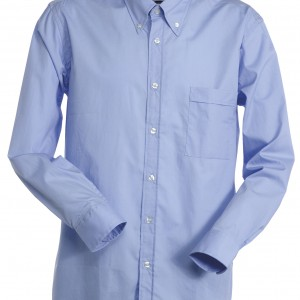 Chemise Homme col anglais bleue
