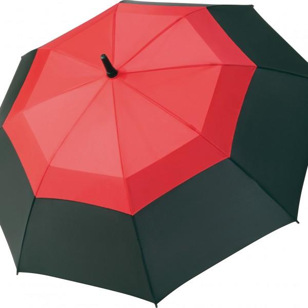 Parapluie Cancale noir et rouge