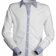 Polo-col-chemise-manches-longues-blanc