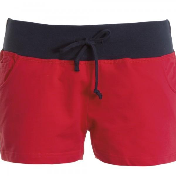 Short Femme rouge et bleu marine
