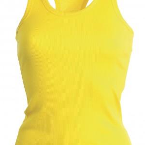 Tee shirt Femme dos nageur jaune