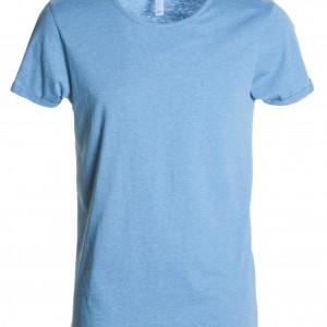 Tee shirt Homme encolure ample bleu clair