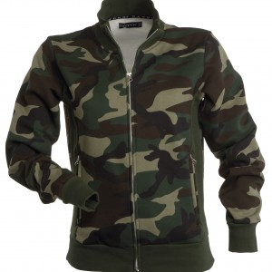 Veste Sweat à double zip Femme camouflage