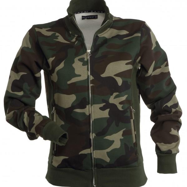 Veste Sweat à double zip Femme camouflage