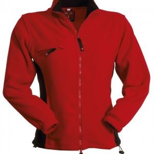 Veste polaire Femme bicolore rouge noir