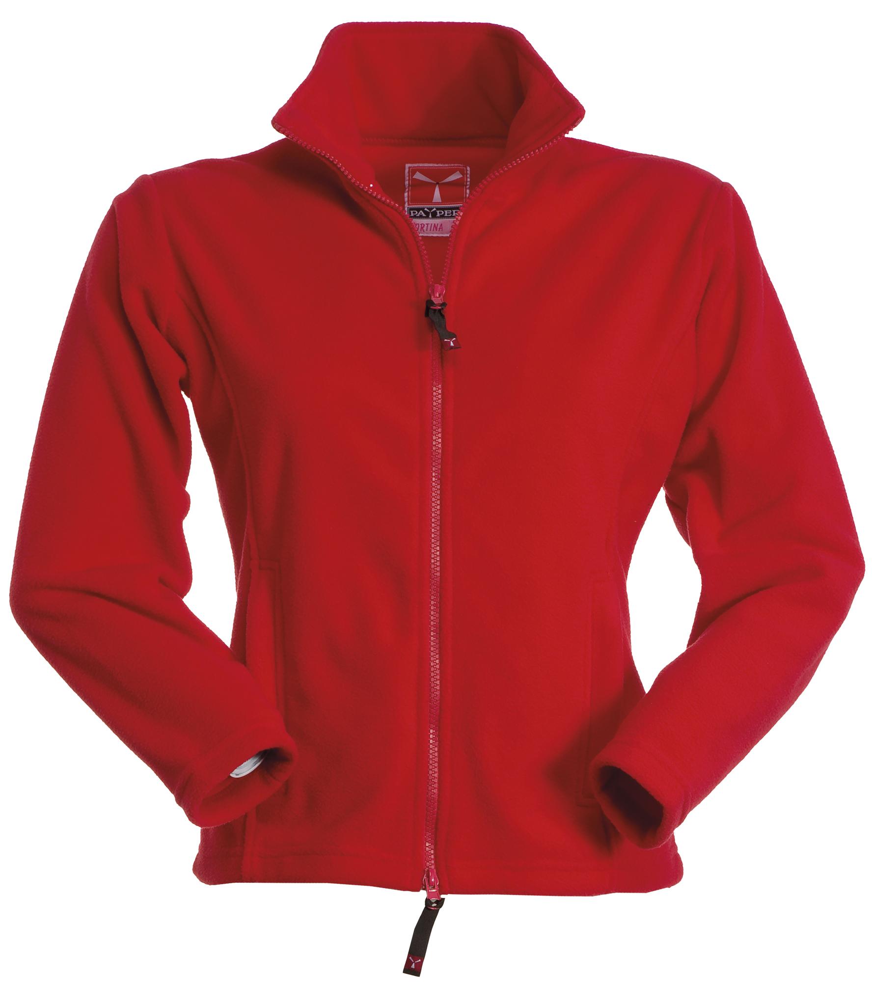 Veste polaire rouge femme