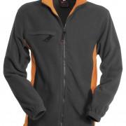 Veste-polaire-Homme-bicolore-gris-orange