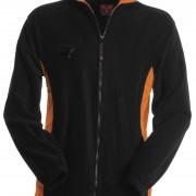 Veste-polaire-Homme-bicolore-noir-orange