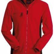 Veste-polaire-Homme-bicolore-rouge-noir