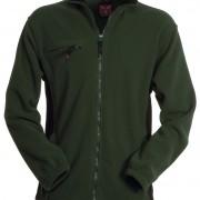 Veste-polaire-Homme-bicolore-vert-noir