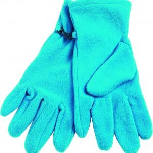 gants polaires turquoise