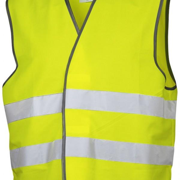 Gilet haute visibilité jaune