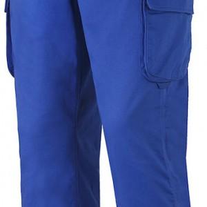 Pantalon multipoches bleu