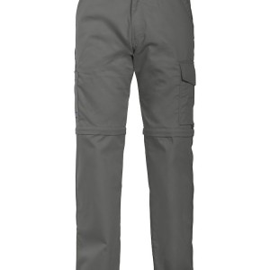 pantalon technique multipoches transformable gris