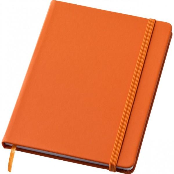 bloc notes élastique orange