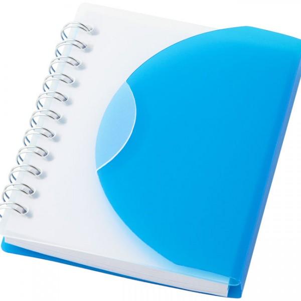 bloc notes A7 bleu