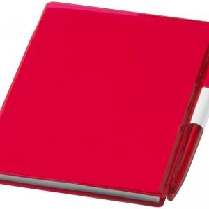bloc notes plastique rouge