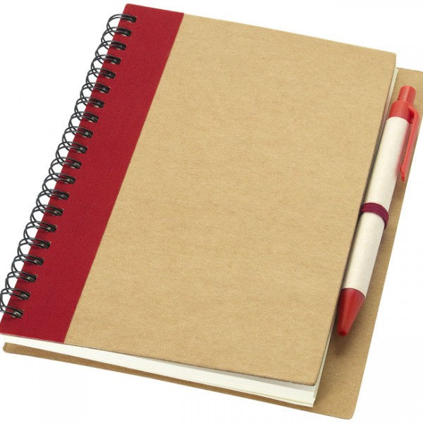 bloc notes stylo rouge