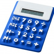calculatrice-souple-bleue