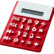 calculatrice-souple-rouge
