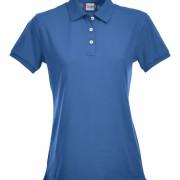 Polo-stretch-femme-bleu