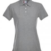 Polo-stretch-femme-gris