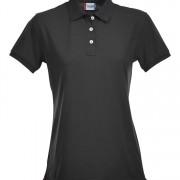 Polo-stretch-femme-noir