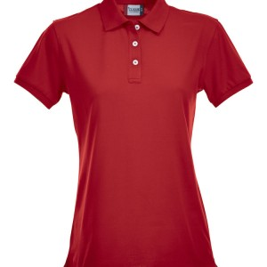 Polo stretch femme publicitaire rouge