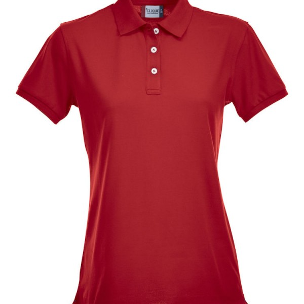 Polo stretch femme rouge