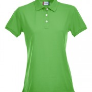 Polo-stretch-femme-vert
