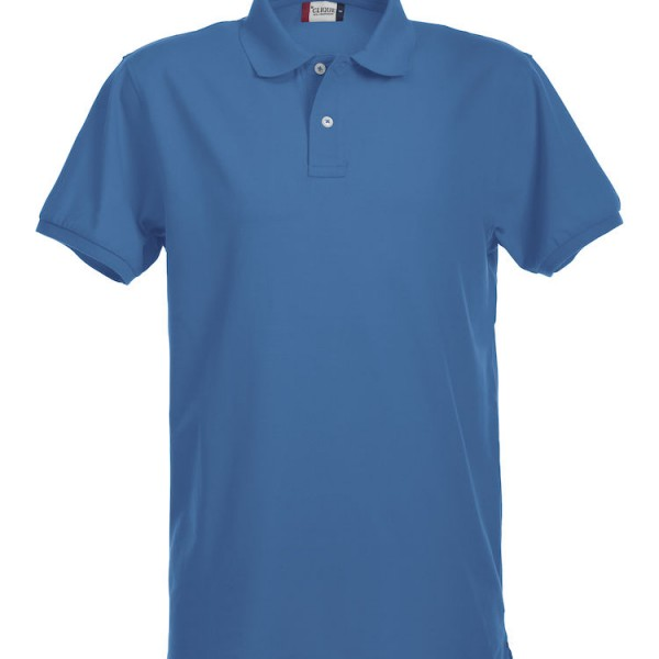 Polo stretch homme bleu