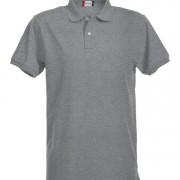 Polo-stretch-homme-gris
